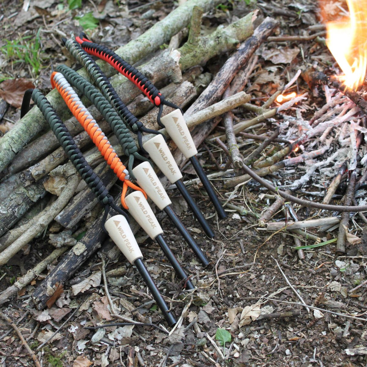 5 x 70MM x 8MM HIGH QUALITY FLINT /& STRIKER IDEAL FOR SURVIVAL BUSHCRAFT SCOUTS